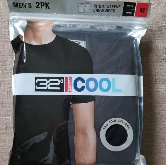 32 Degrees Cool Men/'s Short Sleeve Crew Neck T-Shirt Black